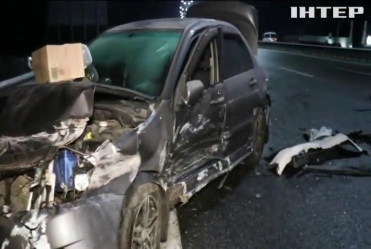 ДТП у Києві: на Бориспільскій трасі зіткнулися 15 машин