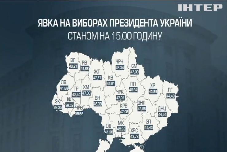 В Запорізькій області на дільниці прийшла майже половина виборців