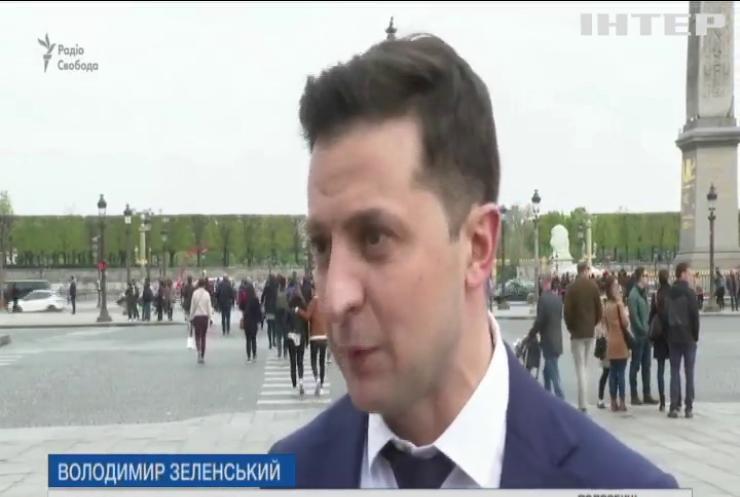 Володимир Зеленський прокоментував зустріч з президентом Франції