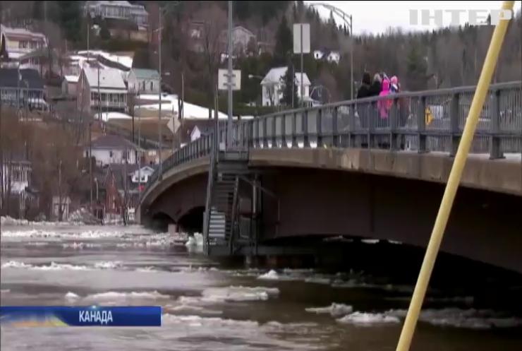 У Канаді прорвало льодову дамбу