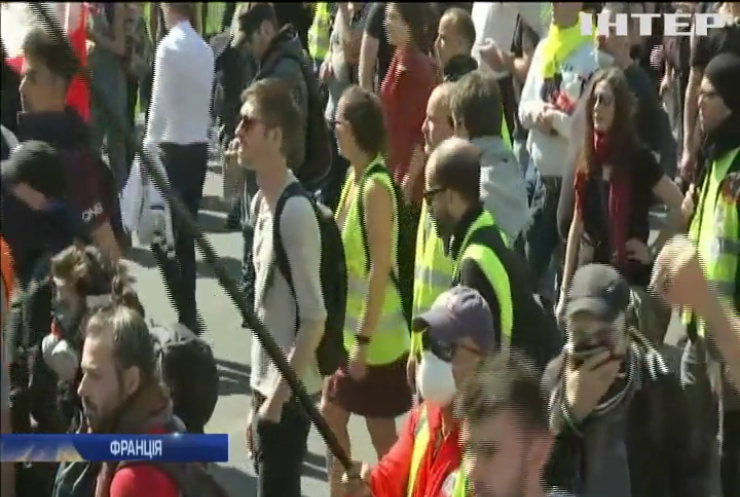 """Париж з новою силою охопили протести """"жовтих жилетів"""""""