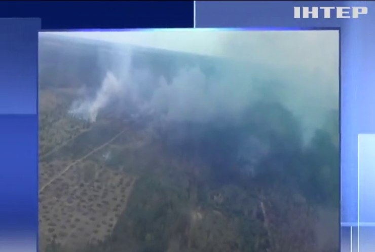 Пожежа під Черніговом: полум'я гасили 40 рятувальників