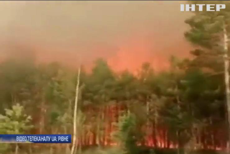 На Рівненщині загорівся найбільший заповідник України