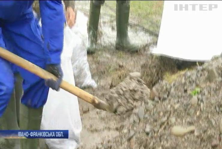 Селяни Прикарпаття рятують свої домівки від прориву дамби