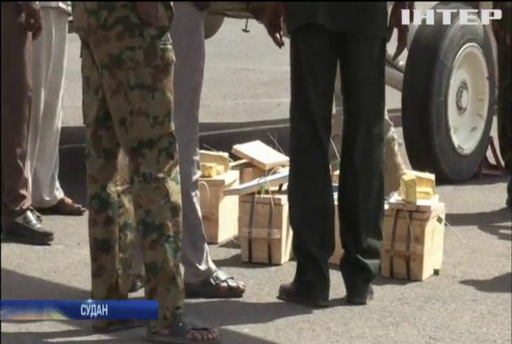 У Судані з літака вилучили 250 кілограмів золота