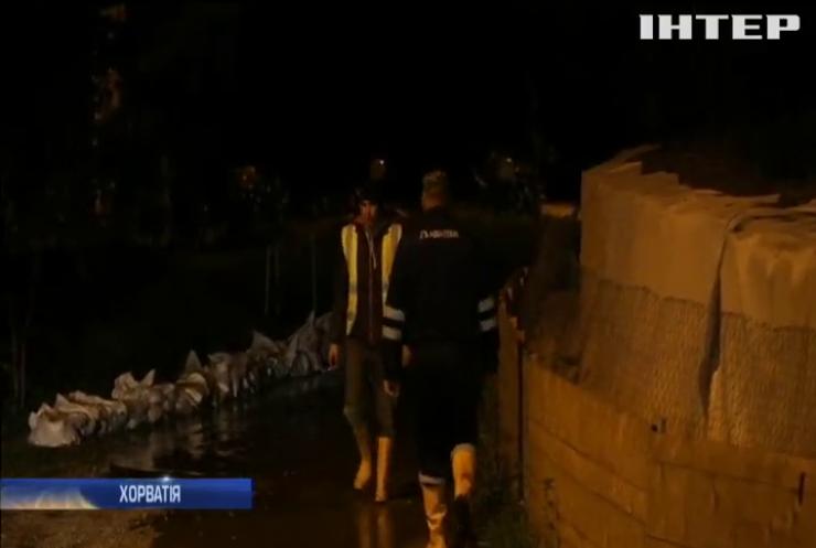 Хорватію та Боснію заводнили потужні зливи