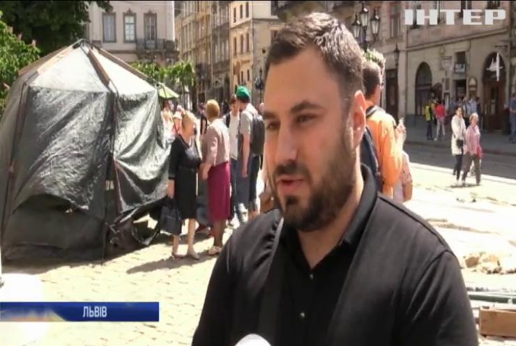 Квартирний скандал у Львові: на протест вийшли учасники АТО