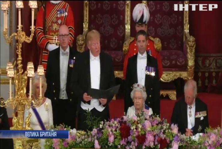 Візит Трампа до Британії: як зустрічали американського президента