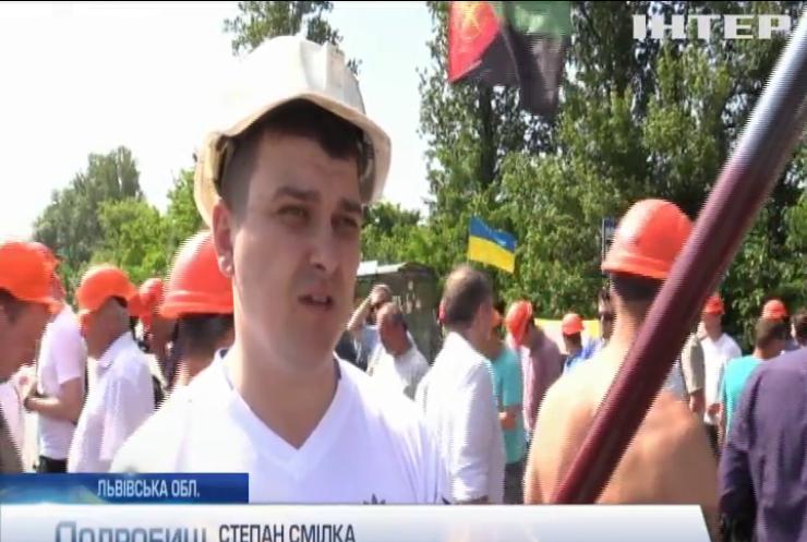 На Львівщині зупинилися вугільні шахти: гірники вийшли на масовий протест