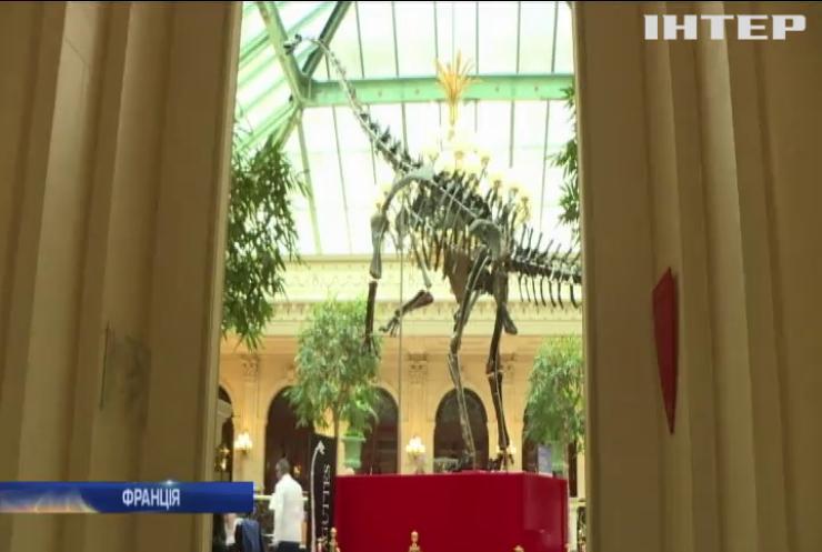 У Парижі виставили на торги скелет динозавра