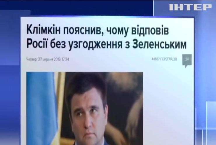 МЗС має достатньо повноважень, щоб не погоджувати з президентом подібні дії - Павло Клімкін
