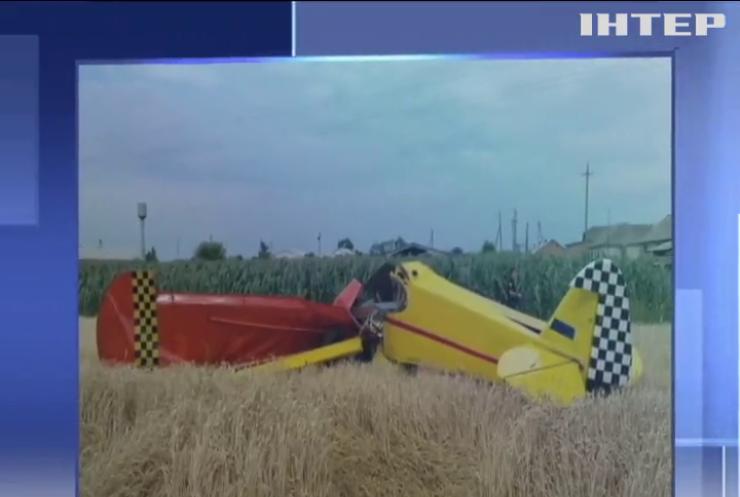 На Полтавщині розбився літак: пілот загинув