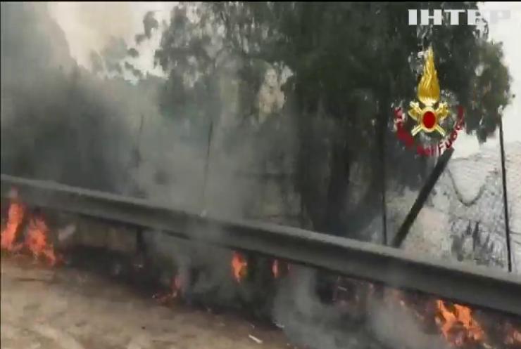 Південь Італії затягло димом від лісових пожеж