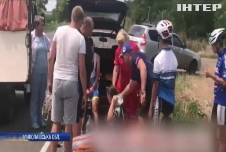 На Миколаївщині водій збив шестеро підлітків-велосипедистів