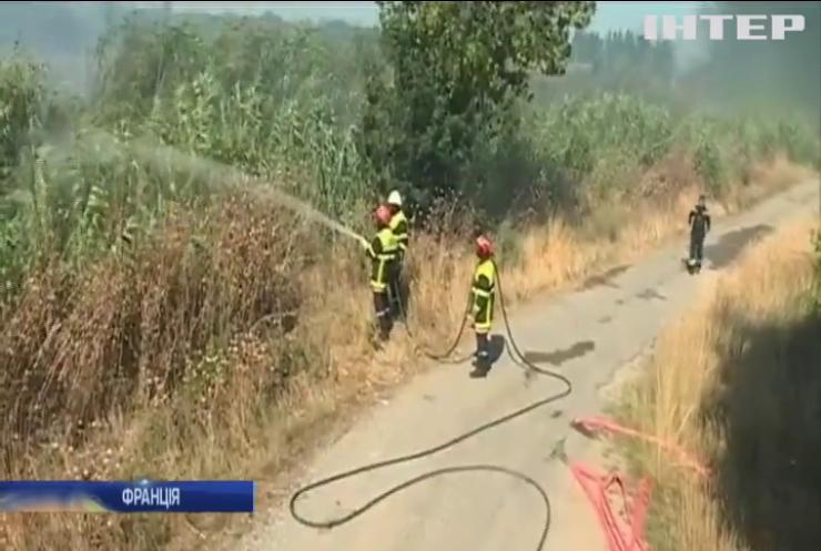 У Франції через лісову пожежу з кемпінгів евакуювали понад 2,5 тисячі людей