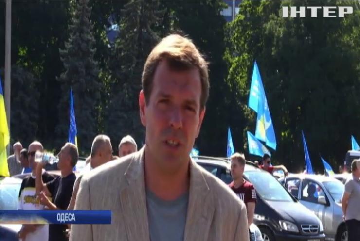 """""""За мир"""": прихильники """"Опозиційної платформи - За життя"""" на знак підтримки політсили влаштували в Одесі масштабний автопробіг"""