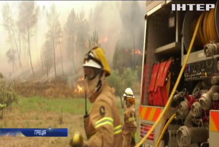 У Греції спалахнула масштабна лісова пожежа