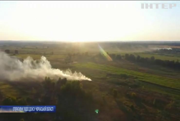 На Черкащині палають сміттєзвалища