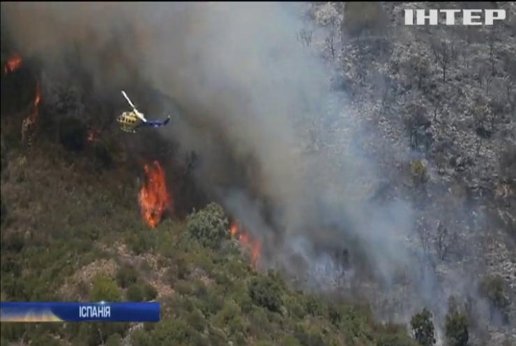 Пожежа в Іспанії: полум'я наблизилося до житлових будинків