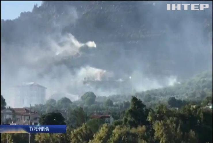 У Туреччині лісові пожежі підступають до відомих курортів