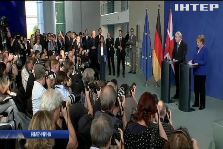 Борис Джонсон уперше відвідав Німеччину та Францію у ролі британського прем'єра