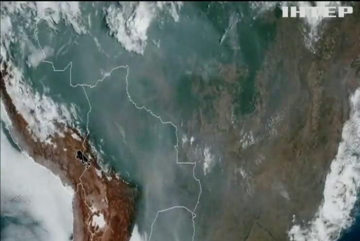 НАСА оприлюднила знімки лісових пожеж на Амазонці з космосу