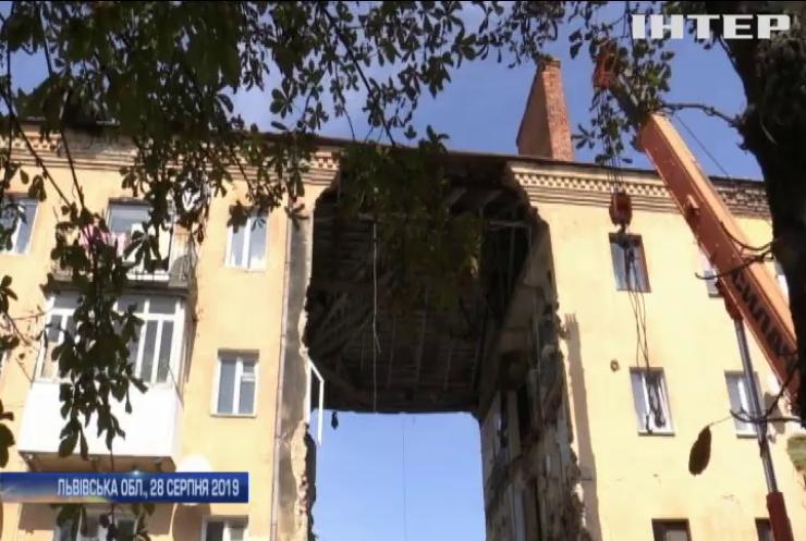 У Дрогобичі арештували зруйнований будинок