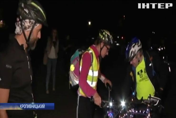 Безпека на дорозі: велолюбителі Кропивницького влаштували незвичну акцію