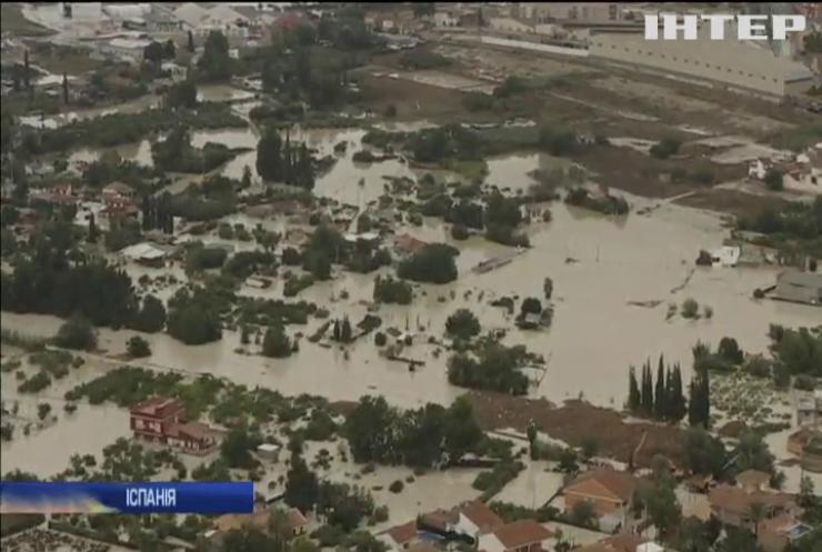 Масштабна повінь знищила врожай на сході Іспанії