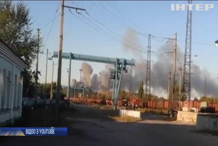 В окупованому Донецьку вибухнув склад боєприпасів бойовиків