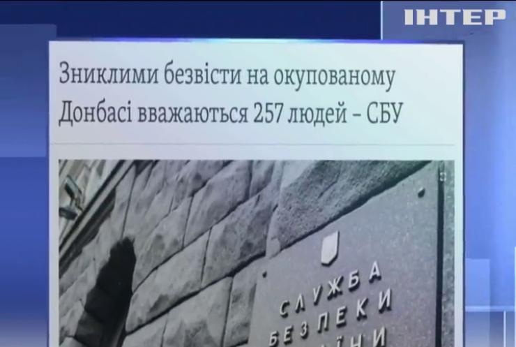 257 людей уважають зниклими безвісти на окупованому бойовиками Донбасі