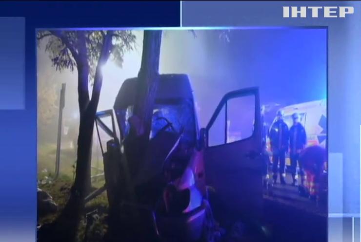 В Угорщині автобус з українцями врізався у дерево