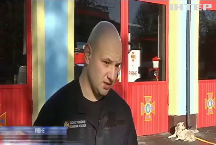У Рівному під час пожежі постраждав охоронець ресторану
