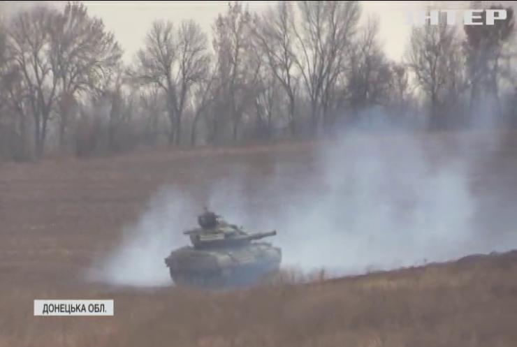 Українські танкісти провели навчання на Донбасі