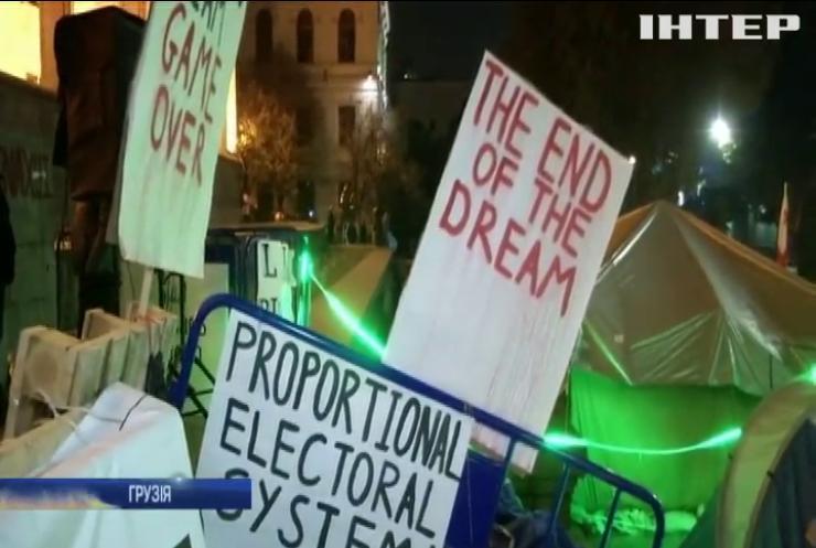 Мітинг у Грузії розігнали водометами