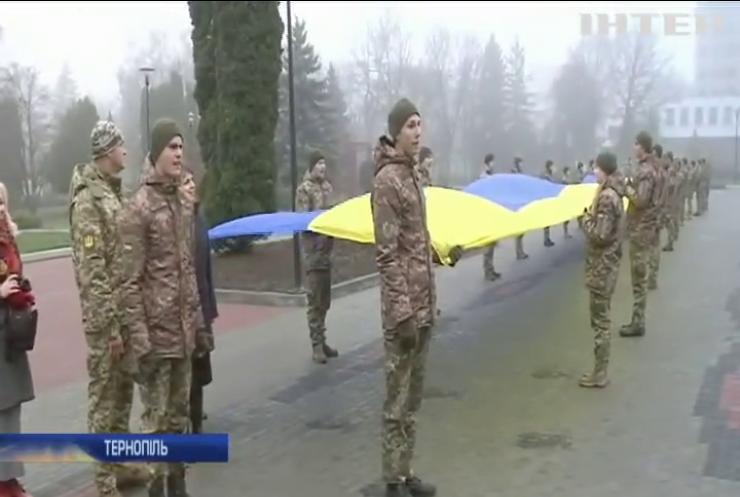 У Тернополі зустрічали артилеристів з передової Донбасу