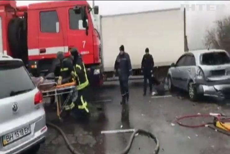 В Одесі 11 автівок зіткнулися через туман