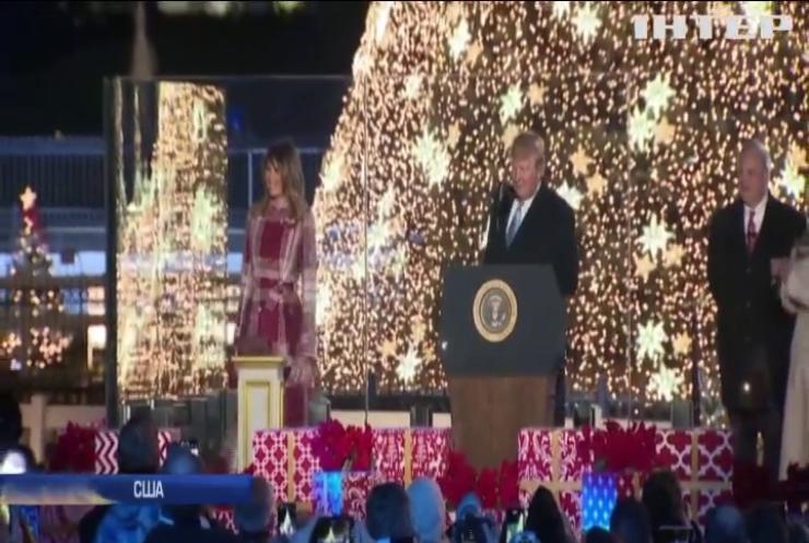У Білому домі запалили новорічну ялинку
