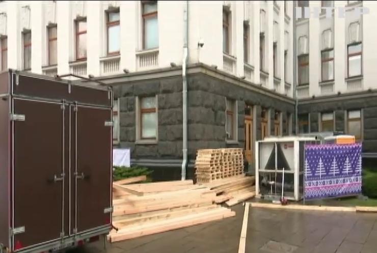 Біля Офісу Президента облаштовувати новорічну ковзанку