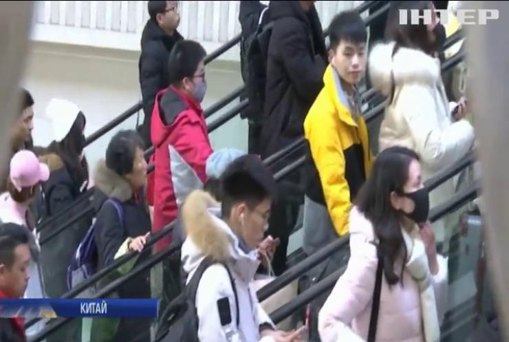 У Китаї зростає кількість заражень на новий вірус