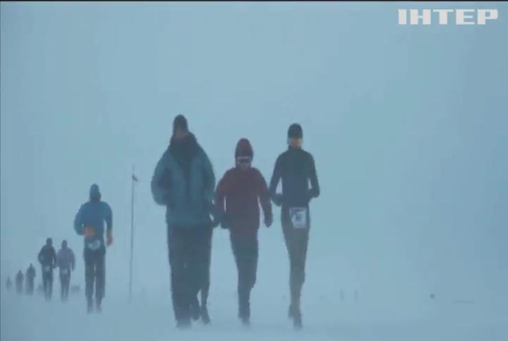 Антарктидою пробігли десятки марафонців