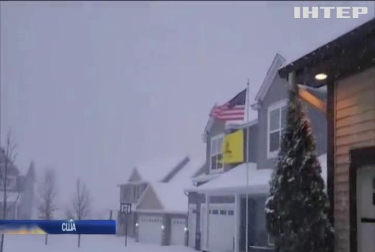 Штатами Мінесота і Вісконсин пронісся сніговий шторм