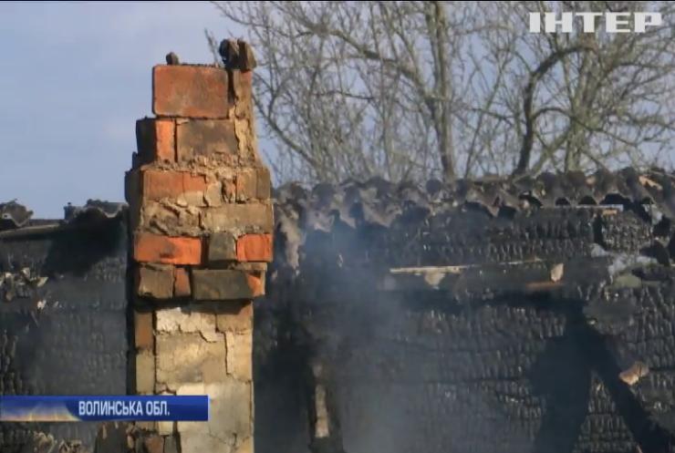 На Волині у дерев'яній хаті згоріли двоє дітей
