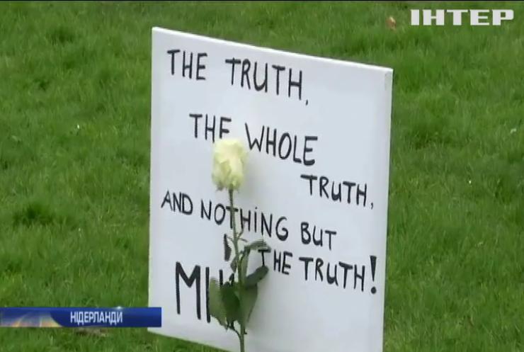 Родичі загиблих у авіакатастрофі MH-17 пікетують посольство Росії у Гаазі