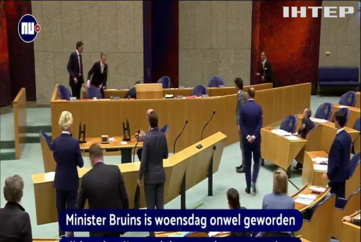 Нідерландський міністр знепритомнів під час обговорення пандемії коронавірусу