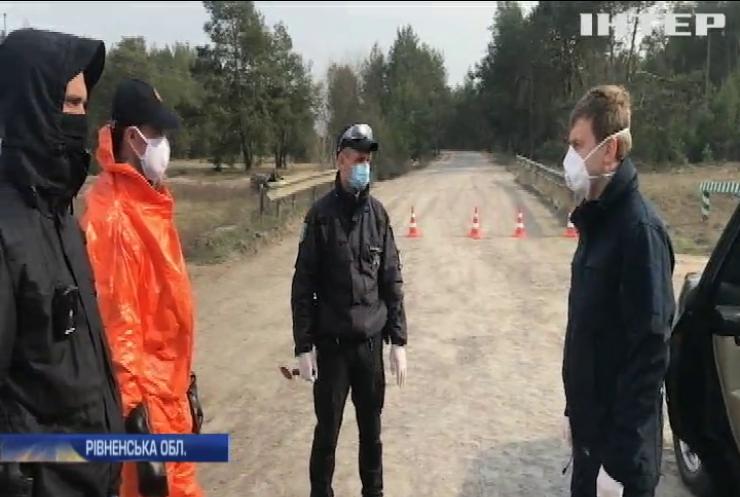 Блокпости та дезінфекція: село на Рівненщині опинилося у центрі епідемії