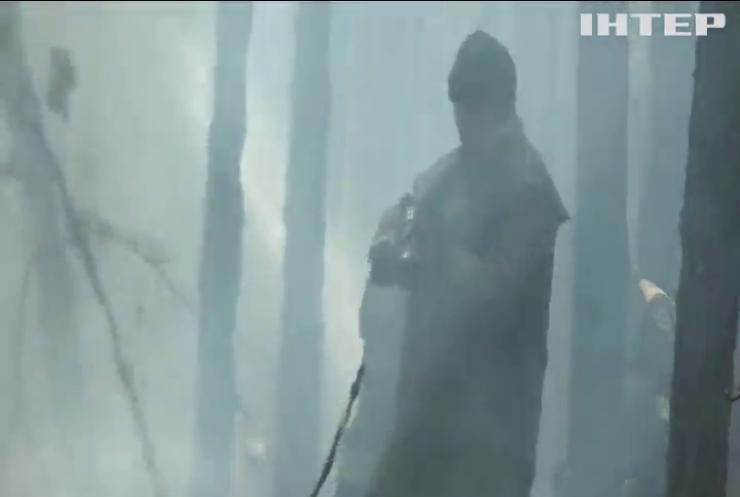 Чорнобильською зоною шириться масштабна пожежа