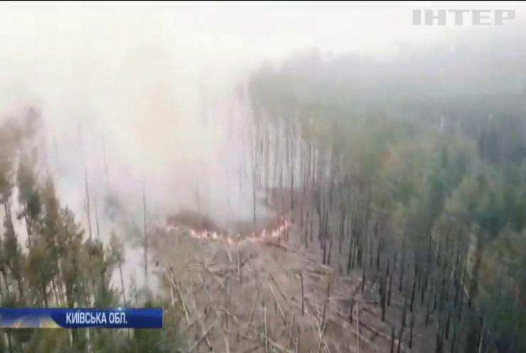 Пожежа у Чорнобильській зоні зросла втричі