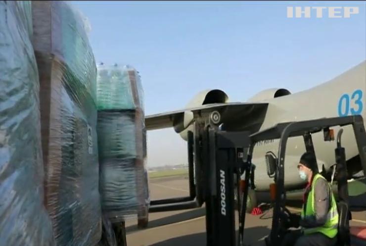 Україна відправила до Італії літак з антисептиками