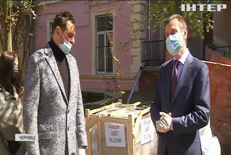 На Буковині обласна лікарня отримала унікальний апарат штучної вентиляції легенів завдяки небайдужим меценатам - Михайло Папієв
